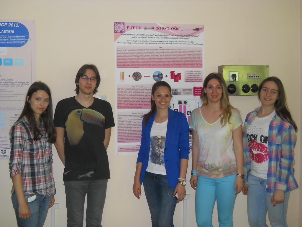 Наши ученици на постер презентацијама у Винчи